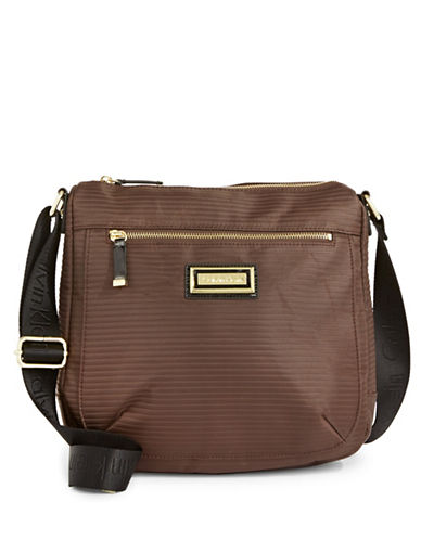 Calvin Klein Ripple Crossbody Bag-BROWN-One Size
