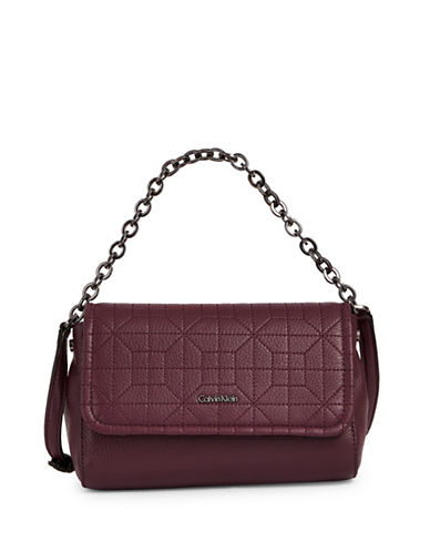 Calvin Klein Quilted Leather Crossbody-PURPLE-One Size