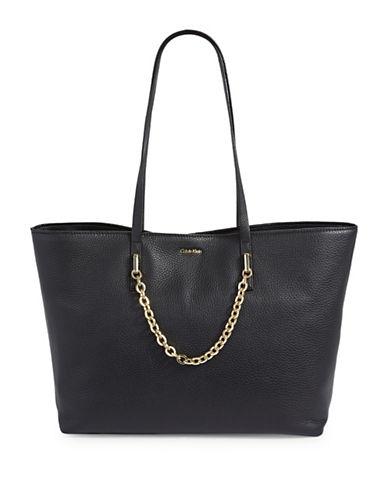 Calvin Klein Chain-Strap Tote-BLACK-One Size