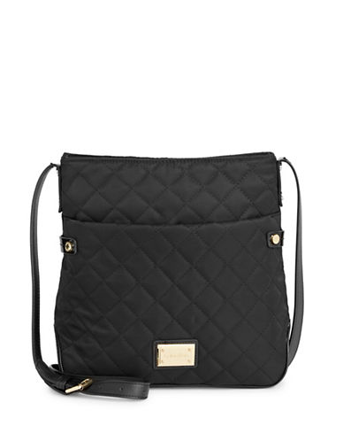 Calvin Klein Quilted Crossbody Bag-BLACK-One Size
