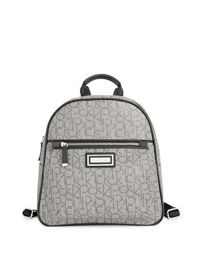 Calvin Klein Monogram Backpack-GREY-One Size
