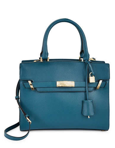 Calvin Klein Flap Cypress Satchel-GREEN-One Size