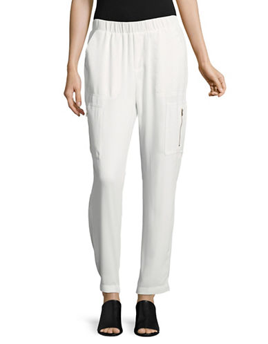 Tommy Hilfiger Soft Cargo Pants-IVORY-Large