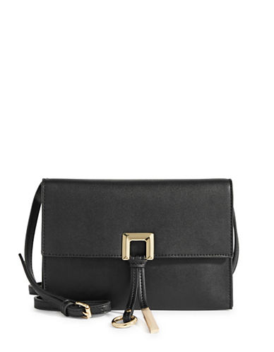 Calvin Klein Crossbody Flap Bag-BLACK-One Size