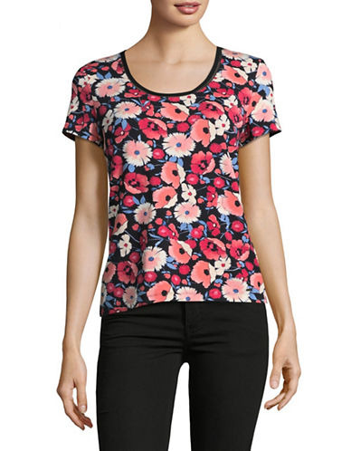 Tommy Hilfiger Floral T-Shirt-BLACK MULTI-Large