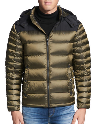 Calvin Klein Premium Down Jacket-GREEN-Medium