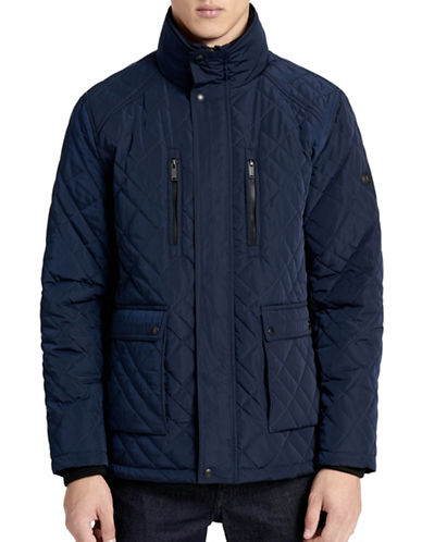 Calvin Klein Quilted Barn Jacket-BLUE-Large