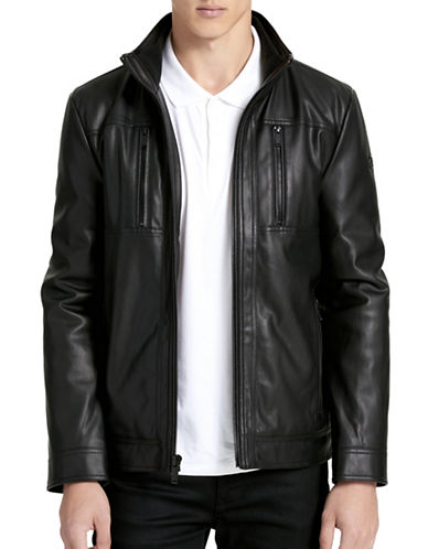 Calvin Klein Zip-Front Jacket-BLACK-Large