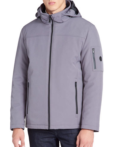 Calvin Klein Wind Resistant 3-in-1 System Jacket-GREY-Large