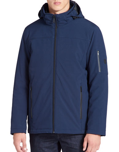 Calvin Klein Wind Resistant 3-in-1 System Jacket-BLUE-Medium