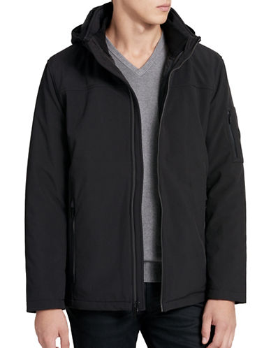 Calvin Klein Wind Resistant 3-in-1 System Jacket-BLACK-Medium