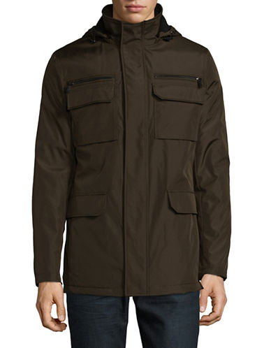 Calvin Klein Essential Four-Pocket Jacket-GREEN-Medium
