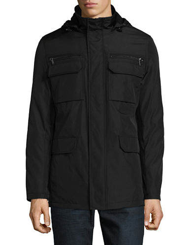 Calvin Klein Essential Four-Pocket Jacket-BLACK-Large