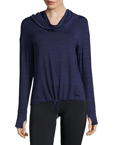 Calvin Klein Performance Cropped Pullover-BLUE-Large