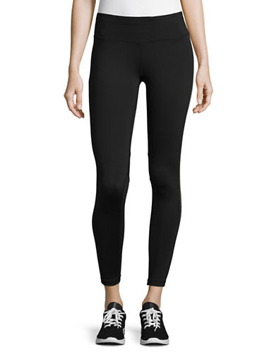 Calvin Klein Performance Print Blocked Capri Leggings-GUNMETAL COMBO-X-Large