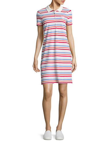 Tommy Hilfiger Striped Pique Polo Dress-BLUE MULTI-Medium