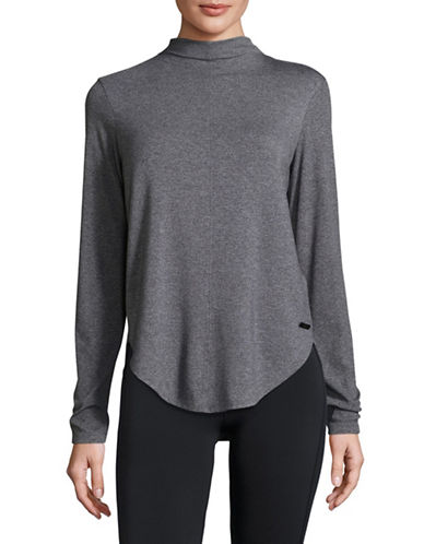 Calvin Klein Performance Tonal Colourblock Hi-Lo Sports Top-GREY-Medium 89630405_GREY_Medium