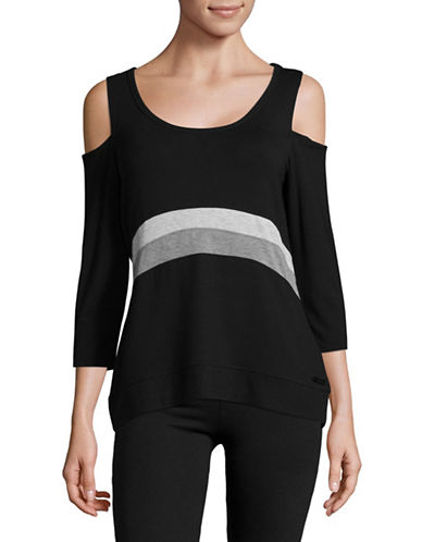 Calvin Klein Performance Tonal Colourblock Hi-Lo Sports Top-GREY-Medium 89529814_GREY_Medium