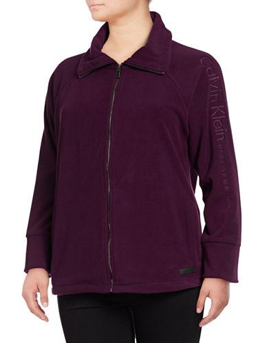 Calvin Klein Performance Plus Plus Embroidered Logo Jacket-RED-1X