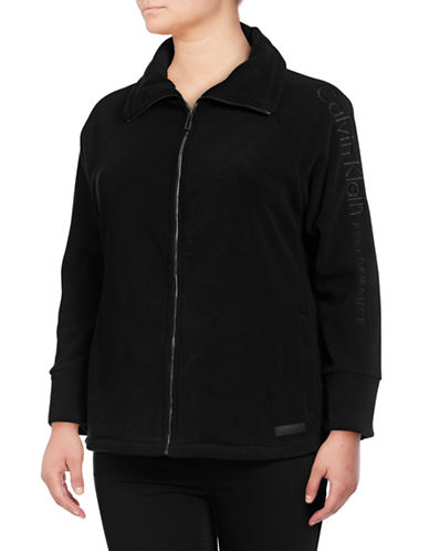 Calvin Klein Performance Plus Plus Embroidered Logo Jacket-BLACK-1X