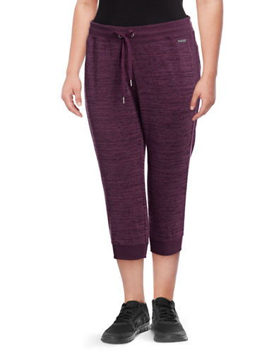 Calvin Klein Performance Plus Side-Rib Crop Jogging Pants-PURPLE-1X 89417189_PURPLE_1X