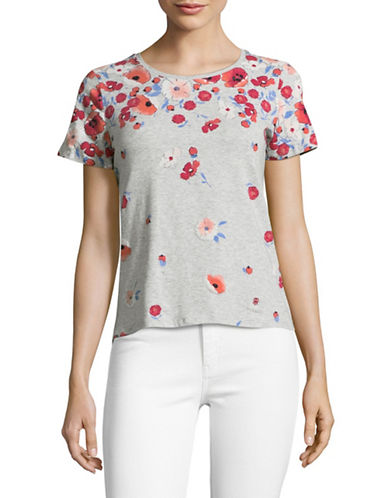 Tommy Hilfiger Floral T-Shirt-GREY-X-Large