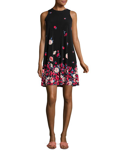 Tommy Hilfiger Graphic Floral Sheath-BLACK MULTI-6