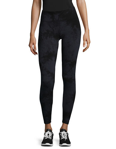 Calvin Klein Performance Printed Stretch Performance Tights-BLACK-Medium 89529786_BLACK_Medium