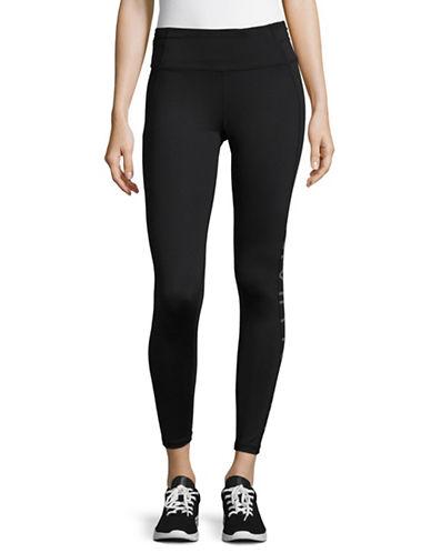 Calvin Klein Performance Print Blocked Capri Leggings-GUNMETAL COMBO-Medium