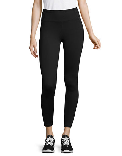 Calvin Klein Performance Print Blocked Capri Leggings-BLACK-Small 89402087_BLACK_Small