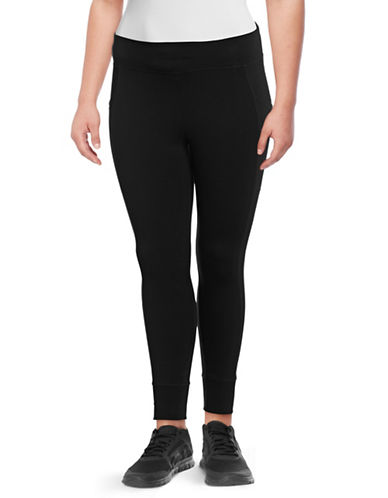 Calvin Klein Performance Plus Jersey Leggings-BLACK-1X 89706213_BLACK_1X