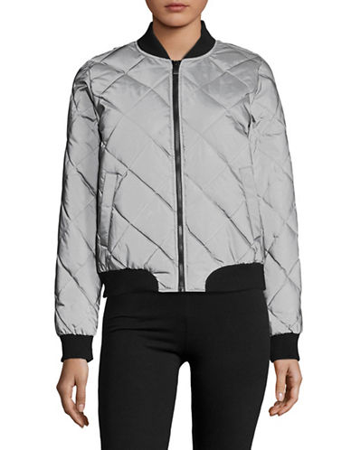 Calvin Klein Performance Quilted Reflective Bomber Jacket-REFLECTIVE SILVER-X-Large