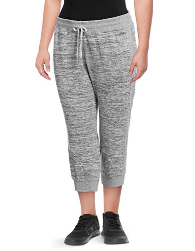 Calvin Klein Performance Plus Side-Rib Crop Jogging Pants-GREY-1X 89417186_GREY_1X