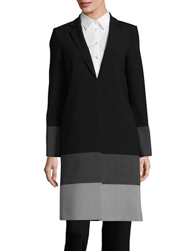 Calvin Klein Lux Colourblock Duster-BLACK/TIN-2