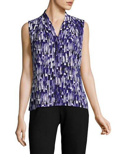Calvin Klein Printed Sleeveless Top-BYZANTINE-Medium