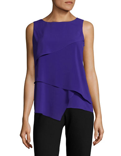 Calvin Klein Sharkbite Asymmetrical Top-BYZANTINE-X-Small
