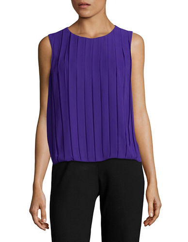 Calvin Klein Pleated Bubble Top-BYZANTINE-Medium