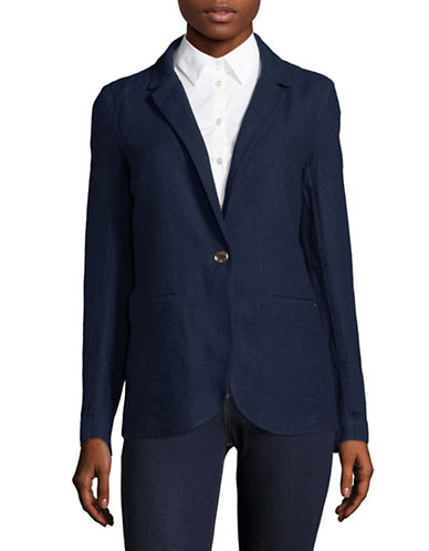 Tommy Hilfiger Linen Blend Blazer-BLUE-X-Small
