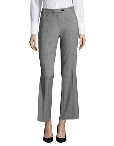 Calvin Klein Glen Plaid Stretch Pants-BLACK/WHITE-12