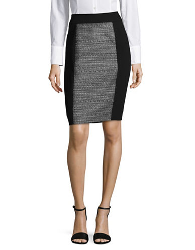 Calvin Klein Tweed Skirt-BLACK/WHITE-14