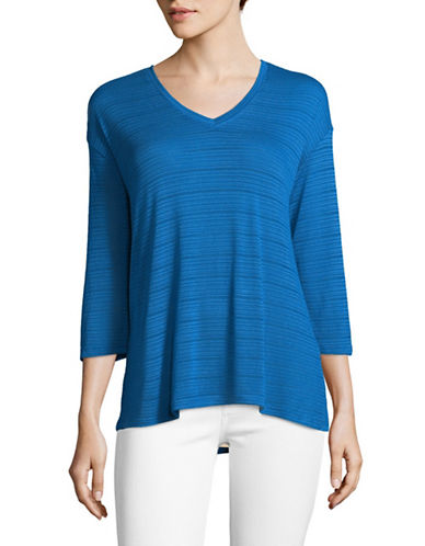 Tommy Hilfiger Sheer Striped Top-BLUE-Medium