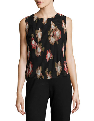 Calvin Klein Pleated Bubble Top-SPICY MULTI-Large
