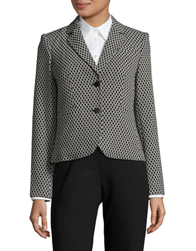 Calvin Klein Jacquard Two-Button Jacket-BLACK/KHAKI-10