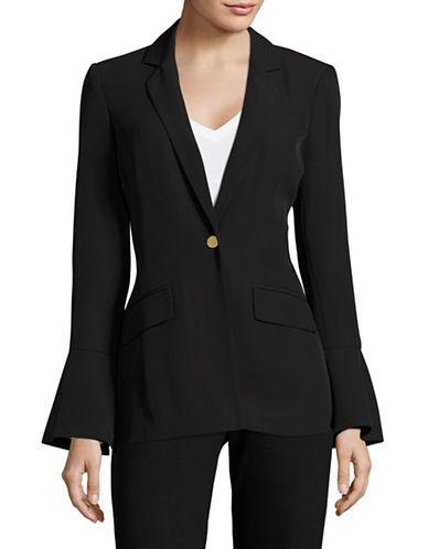 Calvin Klein Bell Sleeve Blazer-BLACK-4