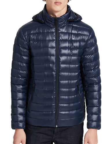 Calvin Klein Packable Down Jacket-BLUE-Large