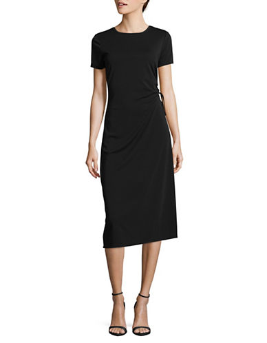 Tommy Hilfiger Ruched Maxi Dress-BLACK-2