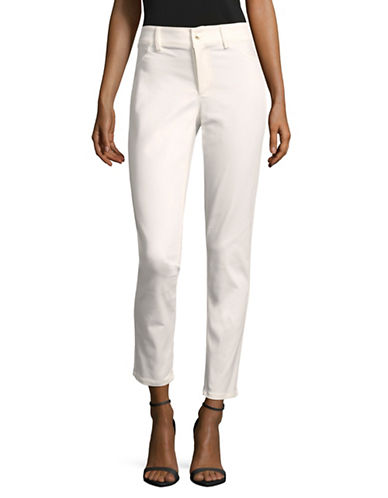 Calvin Klein Stretch Twill Pants-WHITE-16