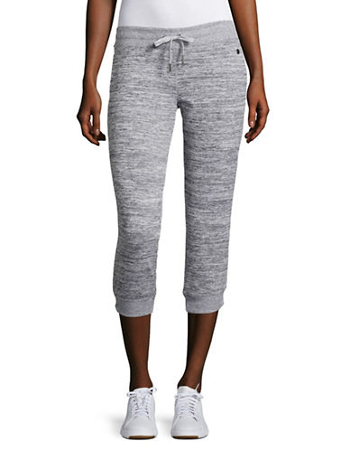Calvin Klein Performance Side-Rib Crop Jogging Pants-QUARTZ COMBO-X-Large