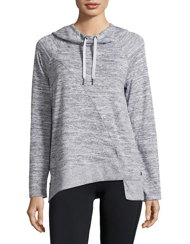 Calvin Klein Performance Asymmetric Cowl Neck Hoodie-QUARTZ COMBO-Large