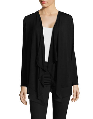 Calvin Klein Flyaway Cardigan-BLACK-Medium
